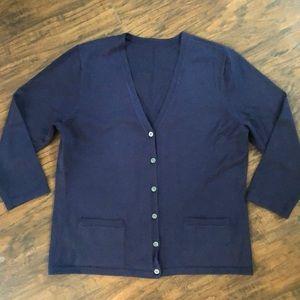Ralph Lauren navy cardigan - Sz S (see post)